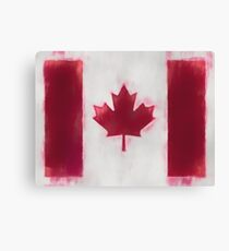 Canada Flag Reworked No. 66, Series 1 Canvas Print