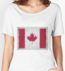 Canada Flag Reworked No. 66, Series 3 Women's Relaxed Fit T-Shirt
