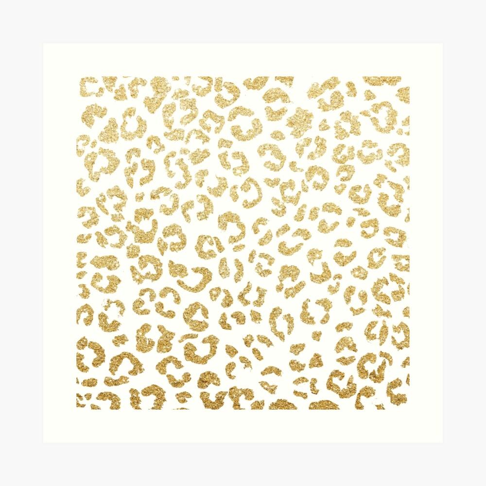 Modern leopard pattern luxury faux gold glitter Art Print