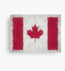 Canada Flag Reworked No. 66, Series 3 Canvas Print