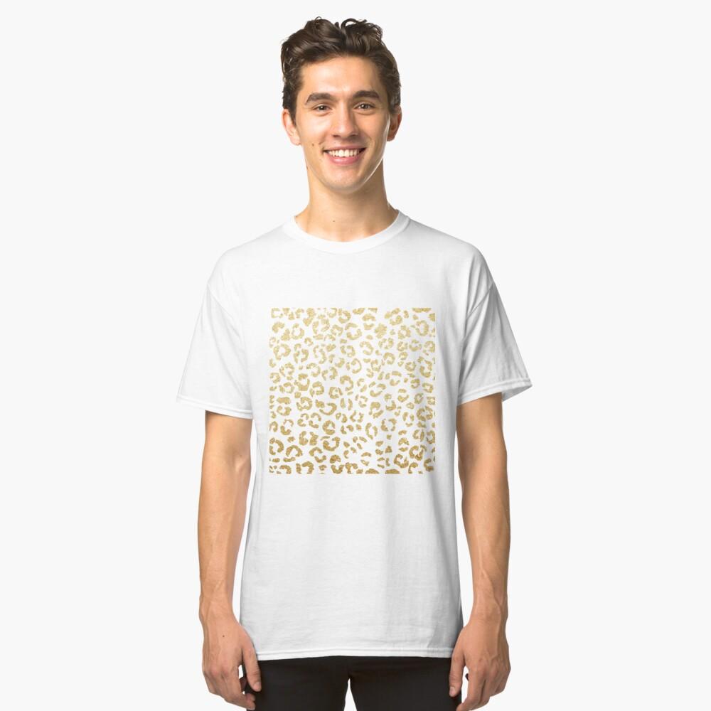 Modern leopard pattern luxury faux gold glitter Classic T-Shirt