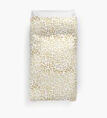 Modern leopard pattern luxury faux gold glitter Duvet Cover