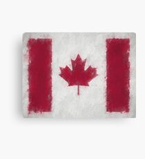Canada Flag Reworked No. 66, Series 4 Canvas Print