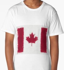 Canada Flag Reworked No. 66, Series 5 Long T-Shirt