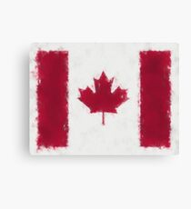 Canada Flag Reworked No. 66, Series 5 Canvas Print