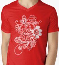 flowers T-shirt  Mens V-Neck T-Shirt