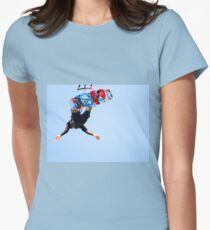 Kite surfing jump as seen from under the board Women's Fitted T-Shirt