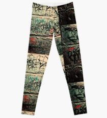Words on the wall  Leggings