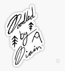 Doodled By Diain Logo Sticker