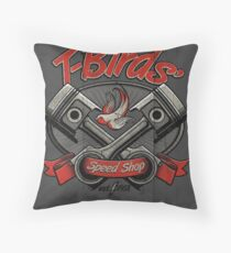 T-Birds' Speed Shop Throw Pillow
