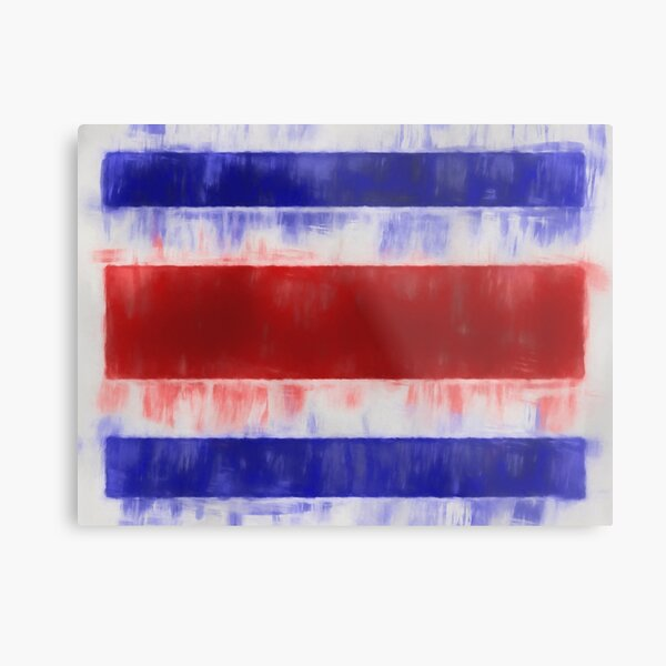 Costa Rica Flag Reworked No. 66, Series 1 Metal Print