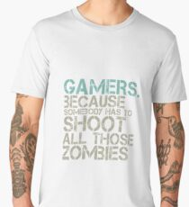 Funny Zombie Video Games for Gaming Geek and Nerd Men's Premium T-Shirt