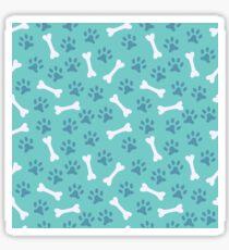 Animal seamless vector pattern of paw footprint and bone Sticker