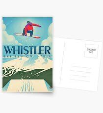 """""""Snowboard Booter"""" Whistler, BC-Reise-Plakat Postkarten"""