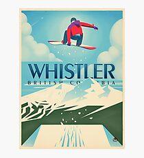 """Snowboard Booter"" Whistler, BC-Reise-Plakat Fotodruck"