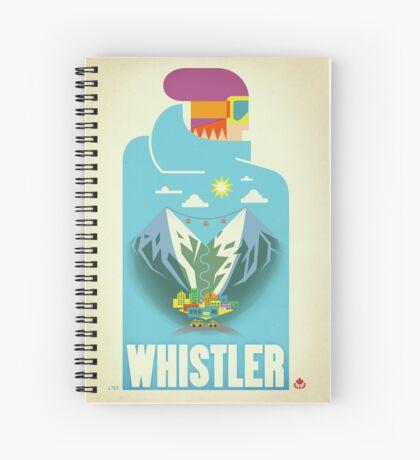 """Blue Bird"" Whistler, BC Travel Poster Spiral Notebook"