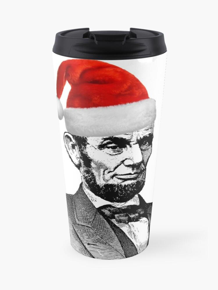 04b69ffd8b5d50 Abraham Lincoln Wearing a Santa Claus Hat