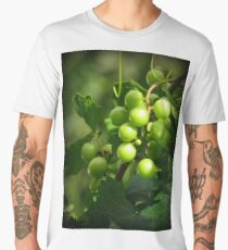 Summer's Champagne Grapes Men's Premium T-Shirt