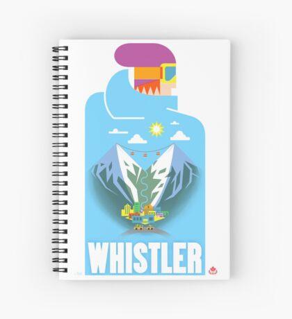 """""""Blue Bird"""" Whistler Village Shirt Spiral Notebook"""