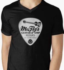 McFly's Repairs - White Men's V-Neck T-Shirt