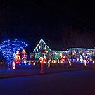 Neighbors House Decorated for Christmas by TJ Baccari Photography