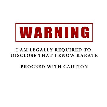Warning - I Know Karate by hbdshirts