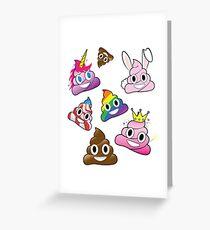 Dummer Whacky Spaß-Poop Emoji-Land-Sammlung Grußkarte