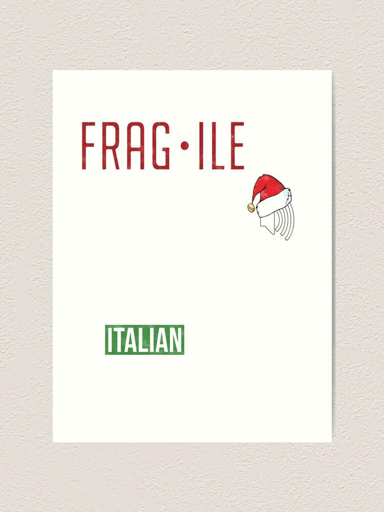 Fragile Fra Gee Lay A Christmas Story Leg Lamp Definition Art Print