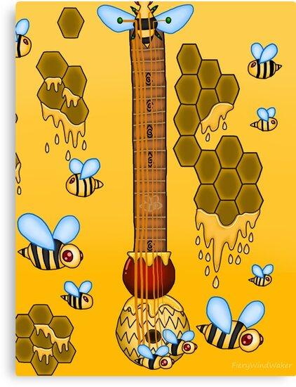 Keyblade Guitar #39 - Sweet Memories (Winnie Pooh World) by FieryWindWaker