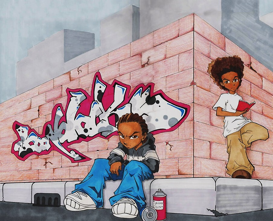 Riley and Huey (The Boondocks) by aries010