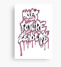 Our Future Leaders Graffiti Pink Canvas Print