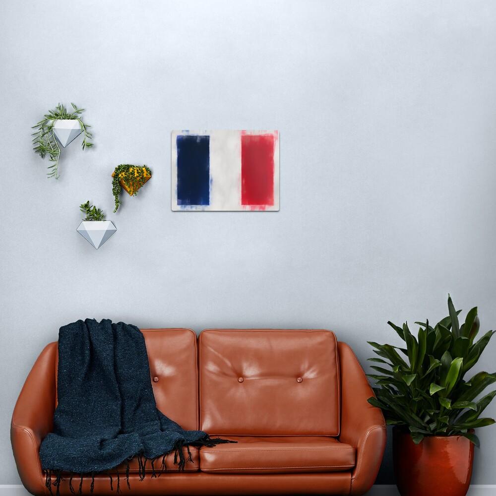 France Flag Reworked No. 66, Series 1 Metal Print