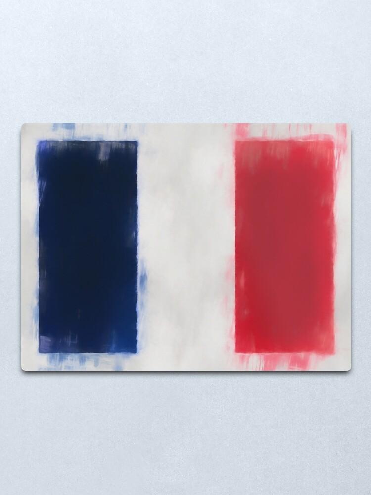 Alternate view of France Flag Reworked No. 66, Series 1 Metal Print