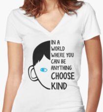 Choose Kind Women's Fitted V-Neck T-Shirt