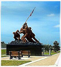 Iwo Jima statue  Poster