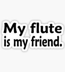 My Flute Is My Friend - Funny Flute T Shirt  Sticker