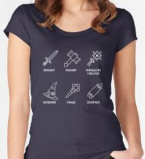 Stranger Things Dungeons & Dragons Zoomer Tee Women's Fitted Scoop T-Shirt