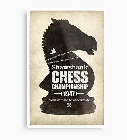 Shawshank Chess Comp Metal Print
