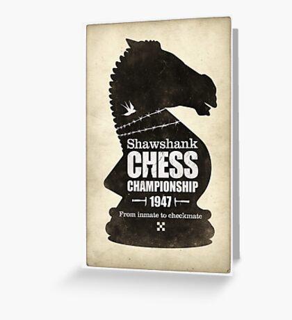 Shawshank Chess Comp Greeting Card
