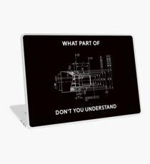 Lustiges Technik-T-Shirt - Maschinenbau-T-Shirt Laptop Folie