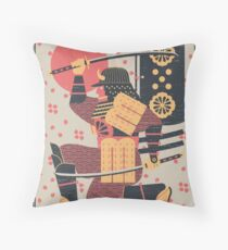 S is for Samurai Throw Pillow
