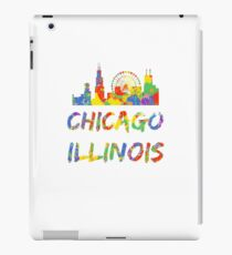 Chicago Illinois Skyline Colorfull Paint Splash iPad Case/Skin