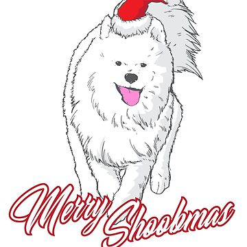 Cute Samoyed Christmas Tee, Merry Shoobmas by sedderzz