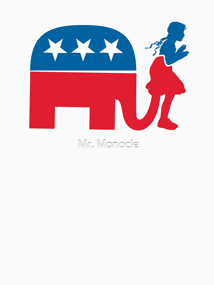 Funny Republican Symbol For Democrats And Liberals Long T Shirt By