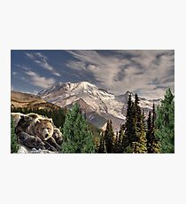 1054-Snow Mountain Hideout Photographic Print