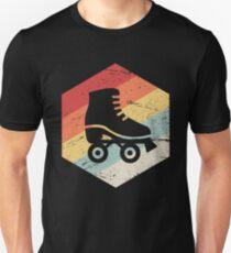 Retro 70er Jahre Roller Skating-Symbol Slim Fit T-Shirt