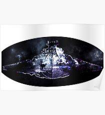Star Battle Space Cruiser Ship Intergalactic Wars Poster