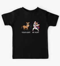 Camiseta para niños Su tía My Aunt Funny Cute dabbing Unicorn T-shirt