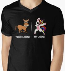 Your Aunt My Aunt Funny Cute dabbing Unicorn T-shirt  T-Shirt