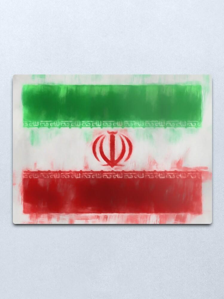 Alternate view of Iran Flag Reworked No. 66, Series 1 Metal Print